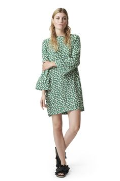 Dalton Crepe Dress, Verdant Green
