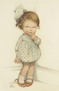 "Mabel Lucie Attwell - ""Crying Girl"" Niedliche Illustration, Drawing For Kids, Art For Kids, Vintage Prints, Vintage Art, Images Vintage, Vintage Pictures, Vintage Postcards, Vintage Greeting Cards"