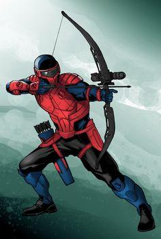 Commish : Armored Archer by wansworld on DeviantArt Superhero Suits, Superhero Characters, Comic Book Characters, Comic Character, Character Concept, Fantasy Characters, Superhero Art Projects, Superhero Design, Superhero Ideas