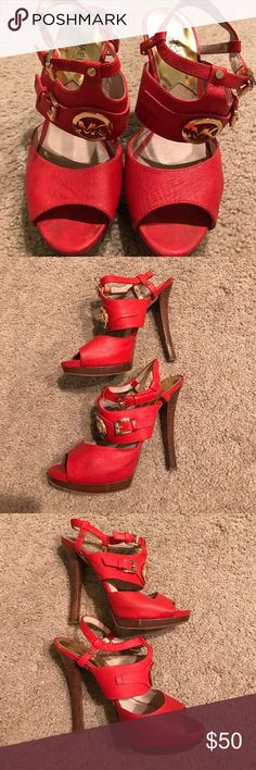 🎀 Original Michael Kors Platform Red 🎀 Used Condition. Michael Kors Shoes Platforms