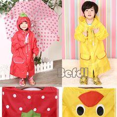 Cute Baby Funny Raincoat Children Cartoon Rain Coat Rainwear Waterproof Cascao | eBay $5.12