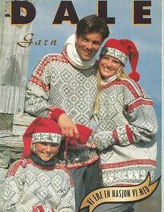 Dale of Norway 57 Men Children Lady's Sweaters Hats Knitting Patterns Norwegian Knitting, Sweater Hat, Man Child, Sweater Design, Vintage Knitting, Knit Crochet, Crochet Tops, Pattern Books, Crochet Projects