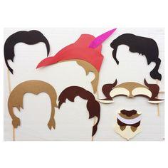 Disney Prince inspiré Photo Booth les accessoires ; Fête d