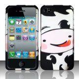 HAPPY COW Hard Plastic Design Matte Case for Apple iPhone 4 / 4S [In Twisted Tech Retail Packaging]. unique and cute designed. Fit with phone very well without changing it's shape,better show the size of it. Easily access to all ports, controls and connectors. Made with excellent craftsmanship and high quality materials fit style. Art designed comic character.