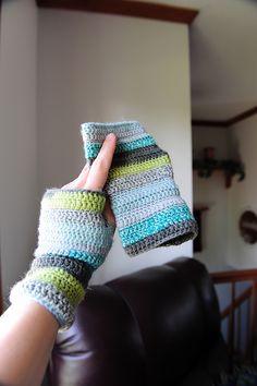 favorite colors fingerless gloves Crochet