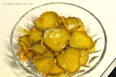 Bread and Butter Pickles / The Grateful Girl Cooks! Homemade Bread And Butter Pickles Recipe, Bread N Butter Pickle Recipe, Bread & Butter Pickles, Pickled Sweet Peppers, Stuffed Sweet Peppers, Canning Pickles, Vegetable Prep, Vegetarian Recipes, Cooking Recipes