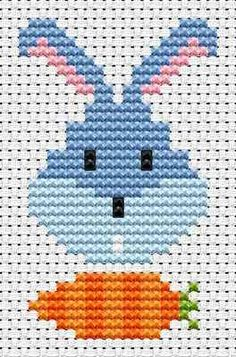 Sew Simple Bunny Head cross stitch kit
