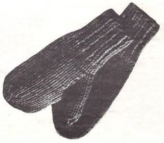 Mittens Knit On Two Needles – Speed Knit This Pair!