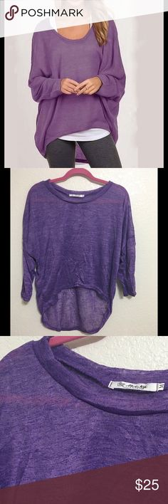 Purple Fall Long Sleeve Loose Top I have only M. Batwing Sleeve Shirt,loose design,I can order any size and color based on requests. Please look at the size measurements before purchasing Tops Blouses
