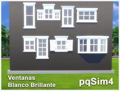 Ventanas Blanco Brillante. Sims 4 Custom Content. ~ pqSim4