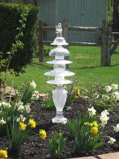 Great use for repurposed glassware