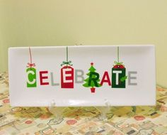 Gift tag platter