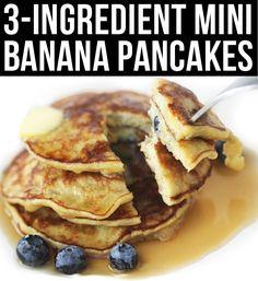 7 Fast & Healthy Breakfast Ideas Mini #banana pancakes