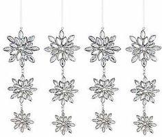 MarthaHolidayTM Arctic Set of 4 Dangling Snowflake Christmas Ornaments on shopstyle.com