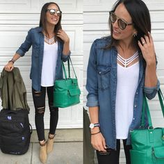 """Love how casual yet """"put together """" this look is (stitch fix idea) Fall Outfits, Summer Outfits, Summer Clothes, Work Outfits, Spring Fashion, Winter Fashion, Friday Outfit, Stitch Fix Outfits, Fall Looks"""