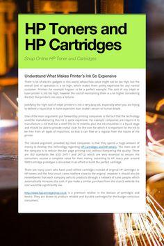 HP Toners and HP Cartridges