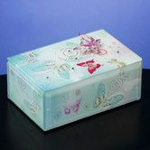Found it at Wayfair - Butterfly Jewels Glass Music Box