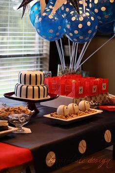 Baseball Party with lots of great details and cute baseball ticket invite.