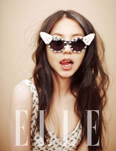 Trippy glasses.  Sohee for Elle