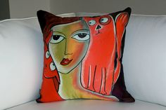 """Meow cushion"" Samantha Thompson Cushion Collection"