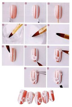 acrylic nail art step by step tutorial