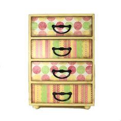Large decoupage bright colors jewelry box trinket box 212 | artbysunfire - Jewelry on ArtFire