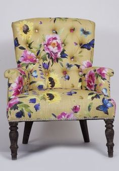 Loving this floral armchair