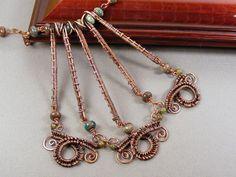 Wire Necklace  Copper Jewelry  Copper Necklace  by DebraNicholls, $90.00