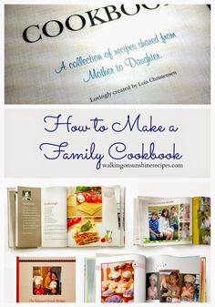 ideas about Family Cookbooks Make Your Own