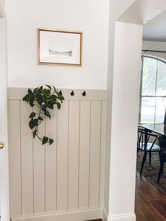 With some paint, shiplap and a little love I gave my garage entry way a refresh! Here's how I achieved my DIY vertical shiplap entry way update on a budget! Garage Entry, Small Hallways, Ship Lap Walls, Half Walls, Home Renovation, Home Projects, Diy Home Decor, Sweet Home, New Homes