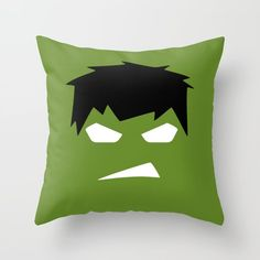 The Hulk Superhero Throw Pillow by motadacruz - Cover x with pillow insert - Indoor Pillow Throw Cushions, Diy Pillows, Designer Throw Pillows, Decorative Pillows, Couch Pillows, Baby Sewing Projects, Sewing For Kids, Diy For Kids, Preschool Painting