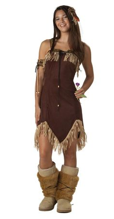Buy Adult Sexy Indian Princess Costume, available for Next Day Delivery. Our Adult Sexy Indian Princess Costume comes complete with the Brown Dress with Fringe Trim, Feather Ornament, Armband and Fur Boot Covers. Indian Halloween Costumes, Halloween Costume Shop, Cute Costumes, Girl Costumes, Costumes For Women, Halloween Party, Halloween Stuff, Girl Halloween, Spirit Halloween