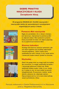 Podziel się dobrą praktyką! | Centrum Edukacji Obywatelskiej Languages Online, Foreign Languages, Polish Language, Teacher Organization, Behavior, Kindergarten, Teaching, How To Plan, Education