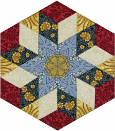 Barbara Brackman's MATERIAL CULTURE: Morris Hexathon 21: Queen Square