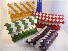 News | Papierschnipsel Mexican Candy, Paper Chains, Modular Origami, Candy Wrappers, Craft Bags, Candy Bags, Plastic Canvas Patterns, Free Pattern, Diy And Crafts