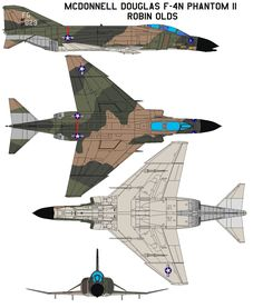 McDonnell Douglas F-4N Phantom II Robin olds First flown in May 1958, the Phantom II originally was developed for U.S. Navy fleet defense and entered service in 1961. The USAF evaluated it (as the ...