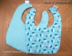 Boats N Anchors  Baby Bib by oceanbreezeboutique on Etsy, $5.00