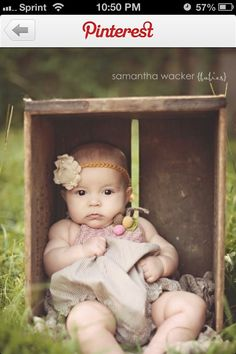 Baby picture idea, with Grandma's cranberry crate