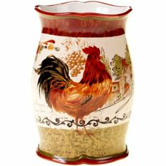 Cucina Appetizer Tray with Rooster Toothpick Holder|Tuscan Italian ...