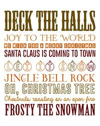 Free Christmas Printable Songs Word Art Brown Gold Fall Colours. Sing to your hearts content basked in #soluxairfresheners #cinammon range for #christmas