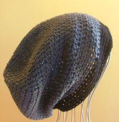 ~~ NEW Mens Womens Unisex Crochet SLOUCHY Beanie HAT Black HANDMADE QLD ~~