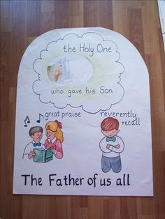 Fathers - verse 3  - I just uploaded these off my hard drive and didn't realize this poster was damaged.  You can see that the picture of the Father and Son at the first vision (from church distribution) should be cut to fit in the oval under The Holy One.  Also, the chorus visual is not on my hard drive, so since it's probably missing, I will try to remake it in time for teaching Father's Day songs.