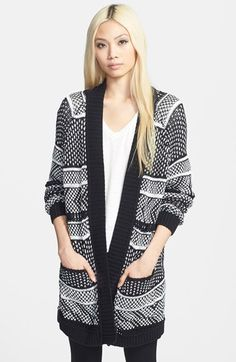 Tildon Boxy Cardigan 31L white snow/folk ladder cotton/acrylic szXS/S 78.00