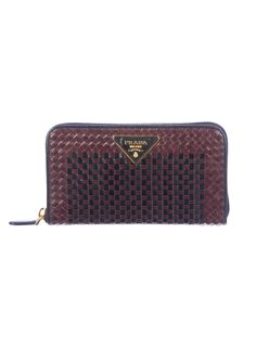 Basket Case: Prada Basketweave Wallet. (TheRealReal.com)