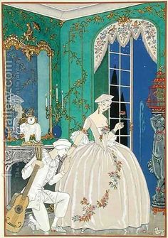 Illustration for 'Fetes Galantes' 2 by Georges Barbier