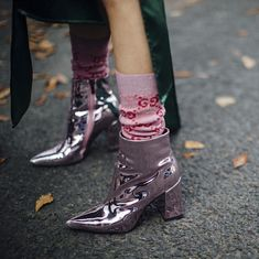 """4,956 Likes, 51 Comments - Fashion in Pills (@fashioninpills) on Instagram: """"Metallic Boots are the Best Boots..Even Better if #Pink : IMAXTREE"""""""