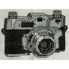 Vintage Camera Cross Stitch Pattern PDF