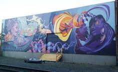Ashley Montague - Refuge Mural in Portland Or. - Illustration