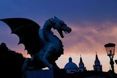 The locals say that if a virgin walks across the bridge, one of the four dragons wags his tail...