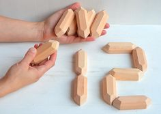 Wooden toddler Math toy, Montessori counting wood blocks, Preschool numbers, Educational natural wood toys, Learning games, Homeschool mom
